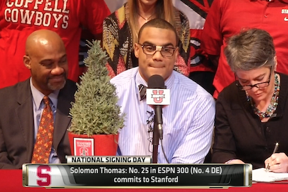 5-Star DE Solomon Thomas Commits to Stanford with Real Tree and Nerd Glasses