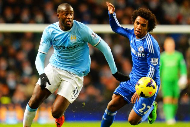 Man City's Yaya Toure Found Wanting, as Willian and Eto'o Inspired Chelsea