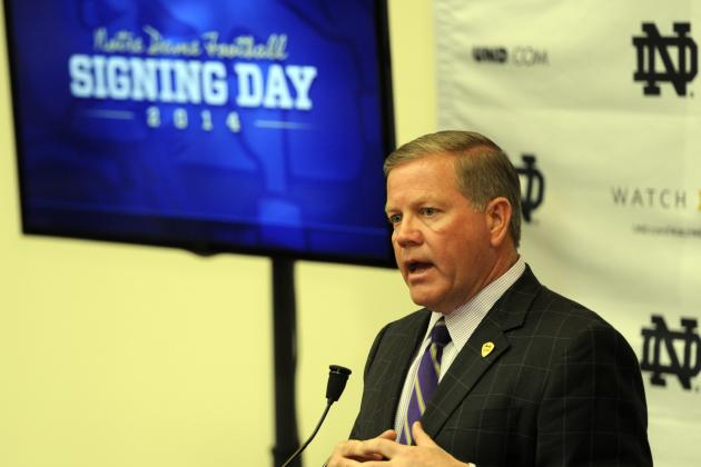 Notre Dame Football Recruiting: Late Push Puts Irish 2014 Class in Elite Status