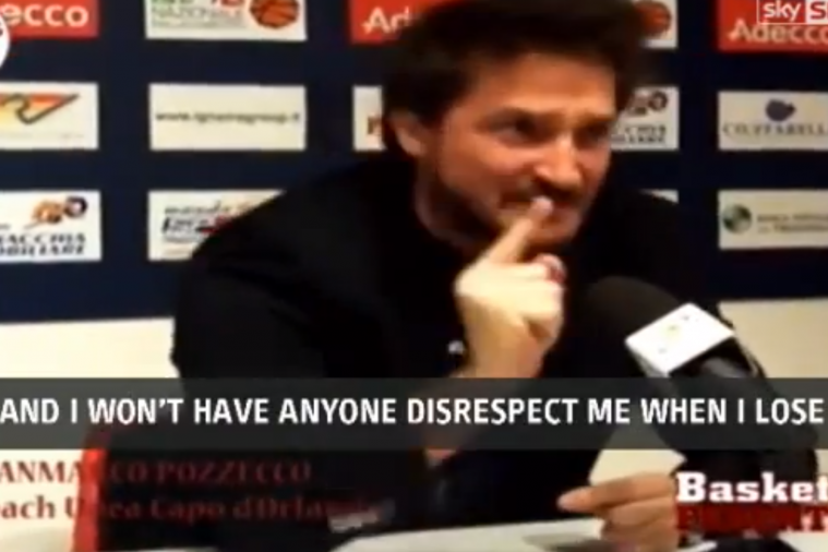 Italian Basketball Coach Loses His Cool over Sportsmanship During Presser