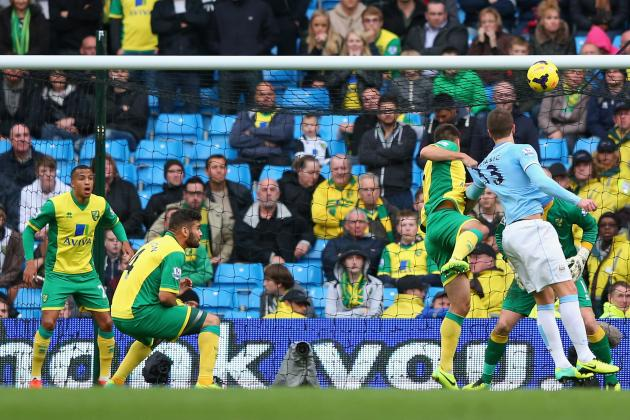 How Manchester City Will Line Up Against Norwich City at Carrow Road