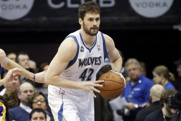 Kevin Love Bests KG for Most 30-Point, 15-Rebound Games in Timberwolves' History