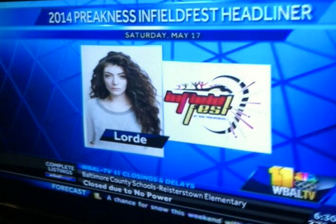 Lorde to Play Preakness Stakes