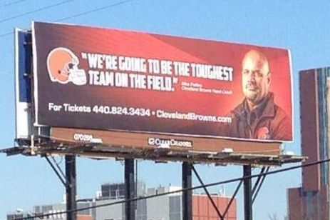 Browns Put Up Billboard in Columbus Featuring New Head Coach
