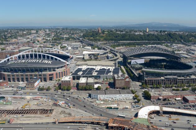 Safeco Field Helps Celebrate the Seahawks