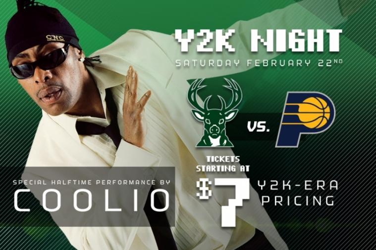 Bucks to Hold Y2K Night Against Pacers, Coolio to Perform at Halftime