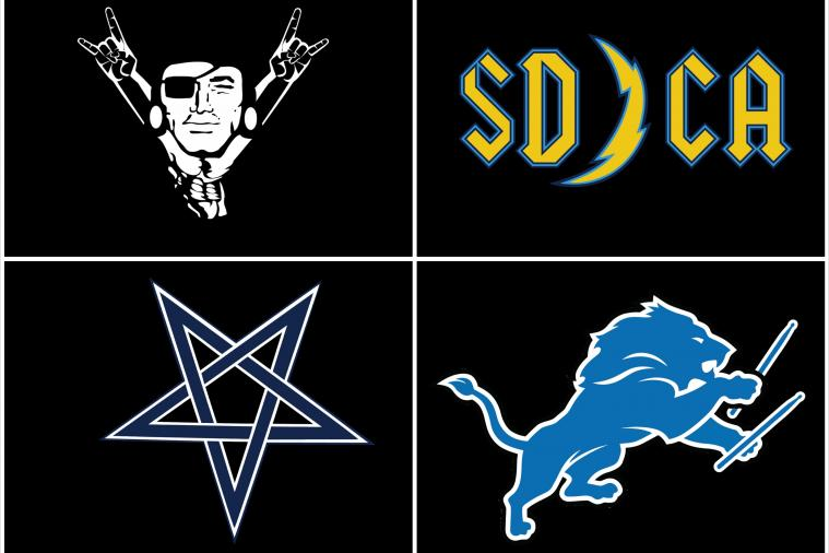 NFL Logos Re-Imagined to Look 'Metal'