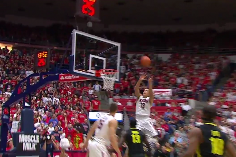 Arizona's Nick Johnson Throws Down 2 Dunks with Authority vs. Oregon