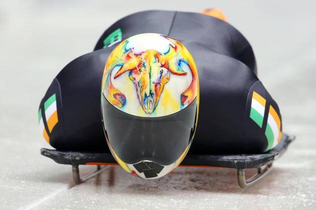 Olympic Skeleton Helmets: Ranking the Top Designs on Display at Sochi