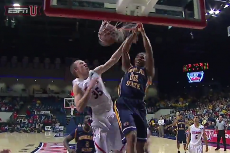 Murray State's T.J. Sapp Dunks All over Belmont's Evan Bradds