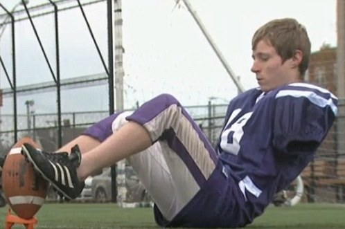 Armless High School Kicker Wants to Be a Raven