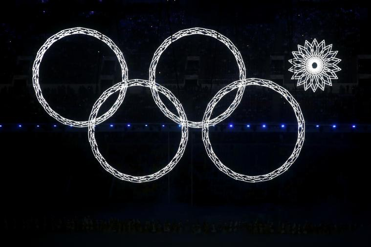 One of the Olympic Rings Malfunctions During Sochi Opening Ceremony