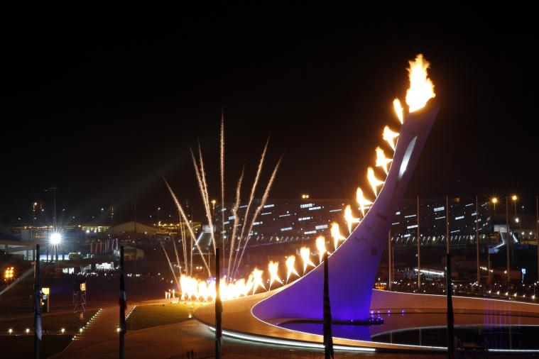 Images and GIFs from the Lighting of the Olympic Torch in Sochi