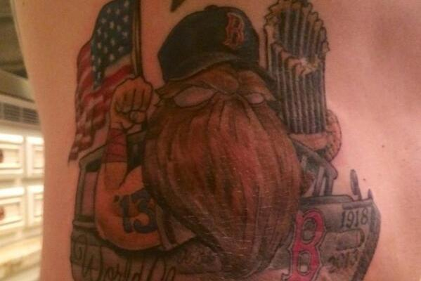 Jonny Gomes Celebrates World Series Win with Massively Awesome Tattoo