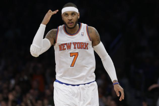 Carmelo Anthony Meets with New York Knicks Owner James Dolan