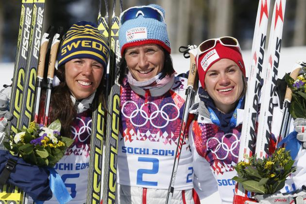 Cross-Country Skiing Medal Results and Times from Olympic 2014 Women's Skiathlon
