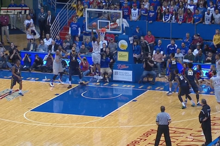 Andrew Wiggins Shows off His Ups on Alley-Oop Against WVU