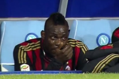 Mario Balotelli Tears Up After Being Subbed off for AC Milan Against Napoli