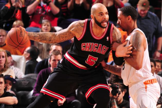 Bulls' Boozer Day to Day with Strained Calf