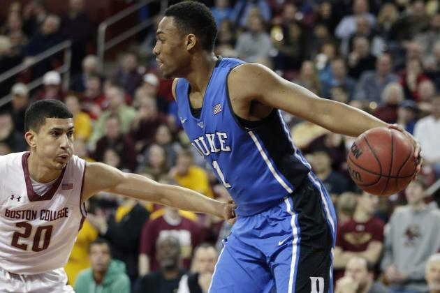 Jabari Parker Scores Career-High 29 Points in Duke's Win vs. Boston College