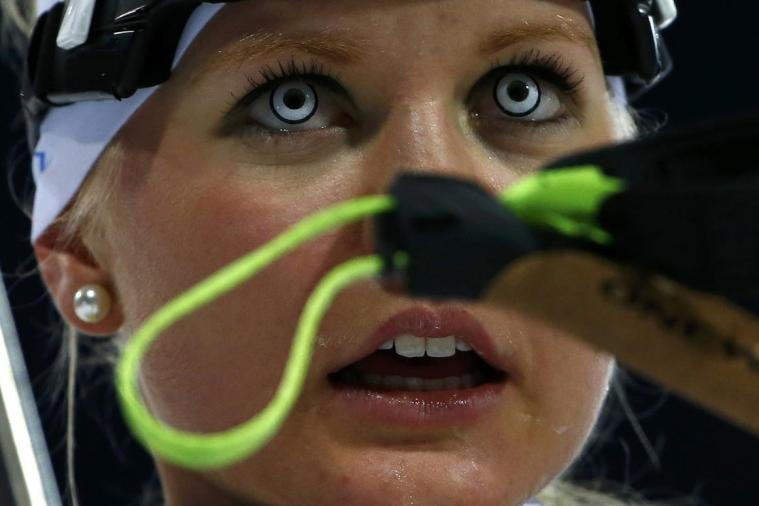 Biathlon Athlete Wears Creepy Contacts During Event