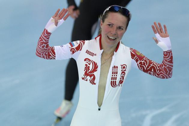 Olga Graf Nearly Has Wardrobe Malfunction After Winning Bronze Medal