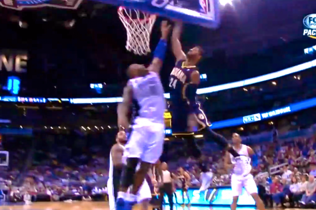 Paul George Throws Down a Hammer on 'Big Baby' Glen Davis