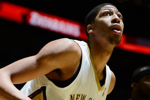 Anthony Davis Blocks Jump Shot, Breaks Away for Dunk in Crazy Sequence