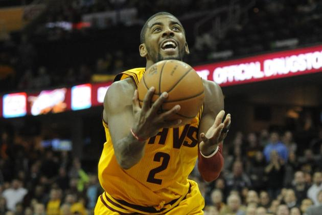 Kyrie Irving Makes Ridiculous Layup to Send Cavaliers to Overtime with Wizards
