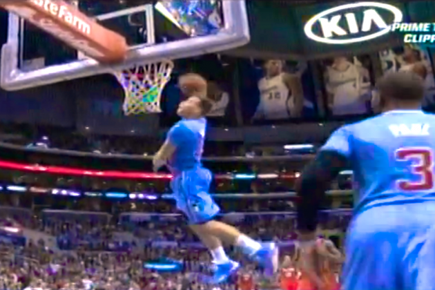 Blake Griffin Dunks Back-to-Back Alley-Oop Windmills