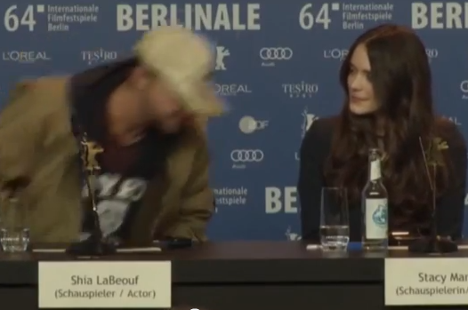 Shia LaBeouf Copies Eric Cantona's 'Seagulls' Line to Exit Press Conference