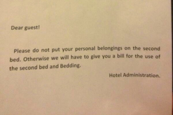 Sochi Hotel Threatens to Charge Journalist for Placing Luggage on Bed