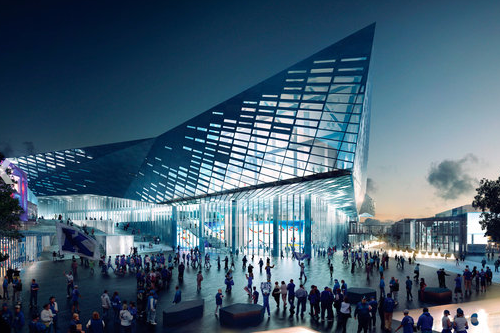 Lexington Mayor Jim Gray Unveils Designs for Renovated Rupp Arena