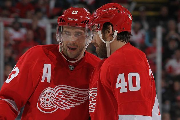 Datsyuk Not Concerned About His Injury, Zetterberg Is