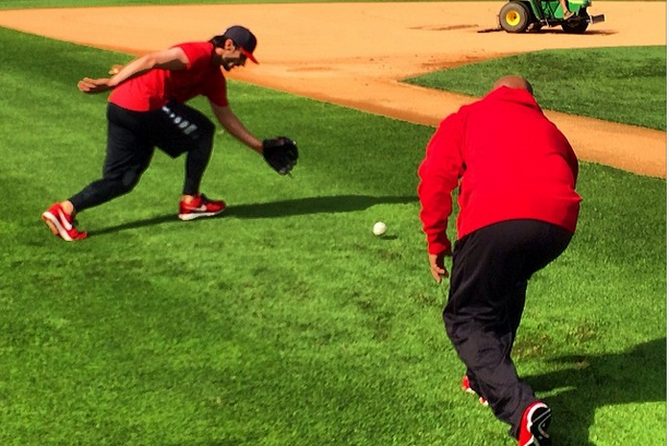 Instagram: Carpenter's New Fielding Drill for Speed