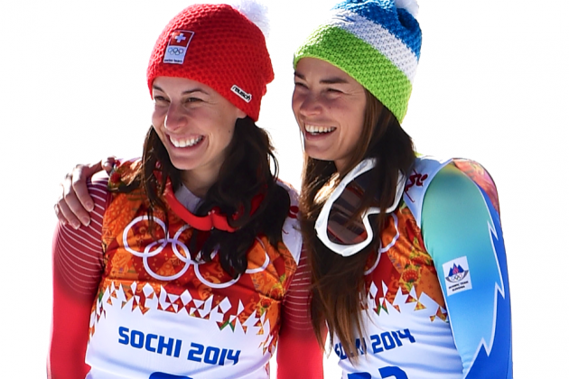Sochi Games Getting Stranger: Tina Maze, Dominique Gisin Tie for Downhill Gold