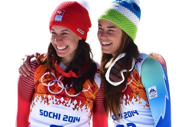 Sochi Games Getting Stranger: Tina Maze, Dominique Gisin Tie for Downhill Gold