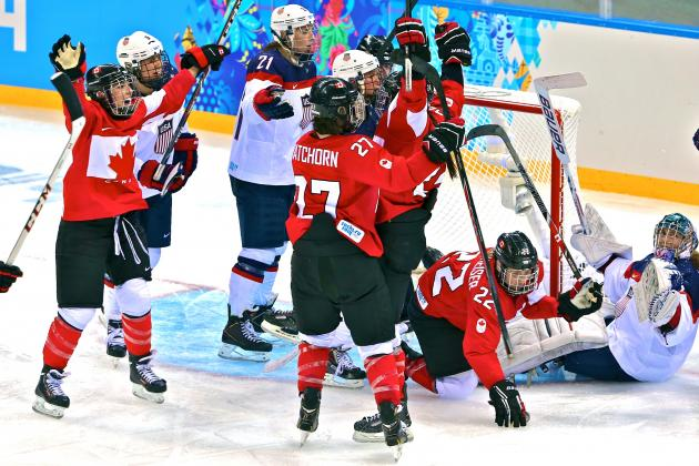 USA vs. Canada Women's Olympic Hockey 2014: Live Score and Analysis