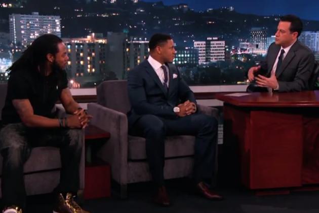 Richard Sherman & Malcolm Smith on Jimmy Kimmel Live