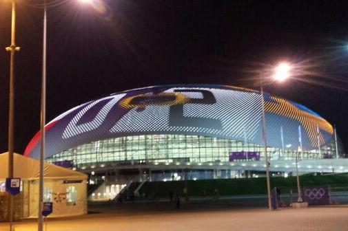 Bolshoy Ice Dome's Awesome Roof Doubles as a Scoreboard at 2014 Sochi Olympics