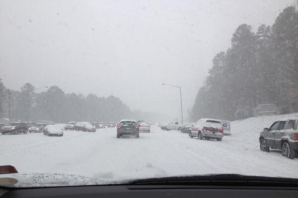 Winter Storm Causes Drivers to Abandon Cars on Highways, Postpones Duke-UNC Game