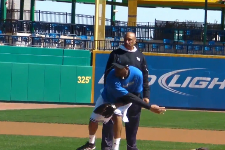 Tracy McGrady Shows off His Pitching Mechanics at Sugar Land Skeeters Complex