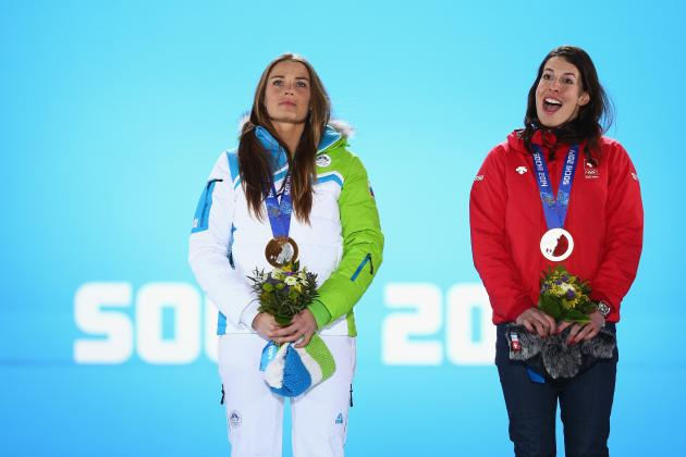 Women's Downhill Event Ends in First Tie in Olympic Alpine Skiing History