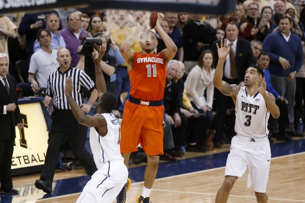 Syracuse Basketball: Tyler Ennis Buzzer-Beater Sinks Pitt in Memory of No. 44