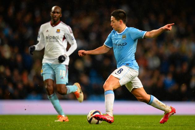 FA Cup 5th-Round Injury News: Samir Nasri Set for Manchester City Return