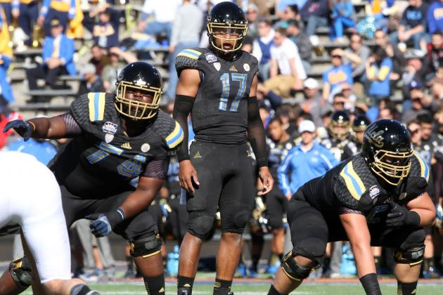 UCLA QB Brett Hundley Has OL to Flourish, but Who Steps Up in Skill Positions?