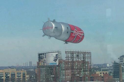 Goal Light Blimp Over Canada Will Go Off Every Time Hockey Team Scores Goal