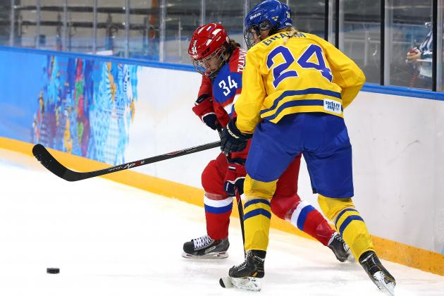 Russia vs. Sweden Women's Hockey: Score and Recap from 2014 Winter Olympics
