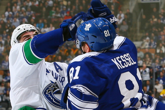Burrows Suffers Sprained Hand in Scuffle with Kessel