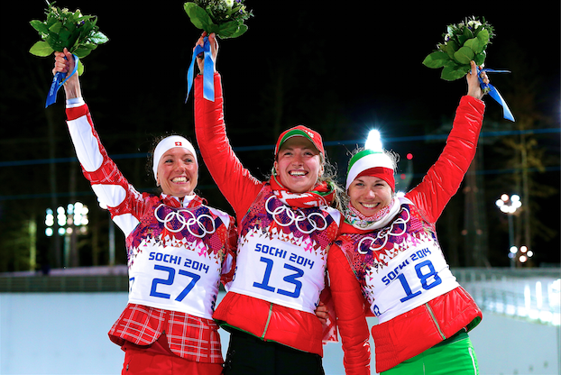 Biathlon Medal Results and Times from Olympic 2014 Women's 15km Individual